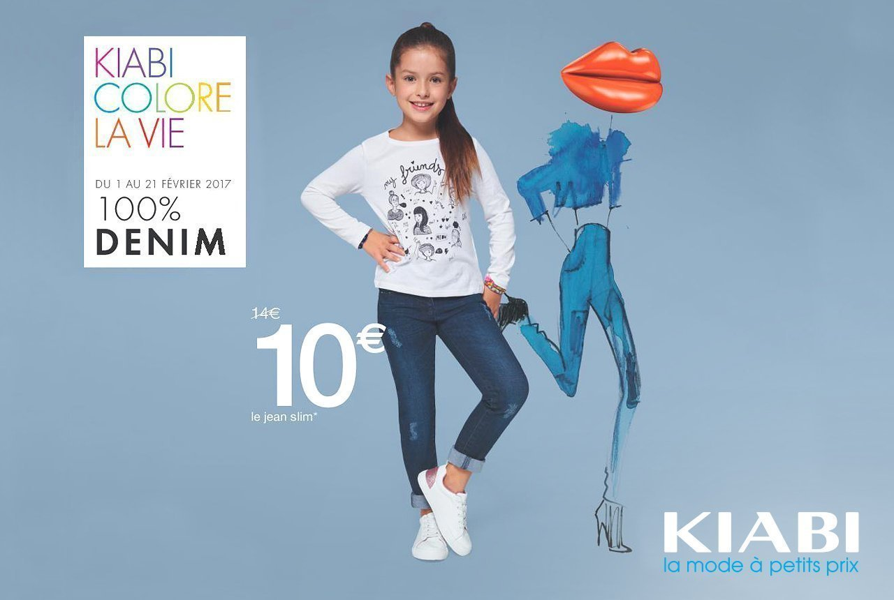 100% Denim Kid - promotion-kiabi-bouffere - fevrier 2017 - Centre Commercial Pays de Montaigu