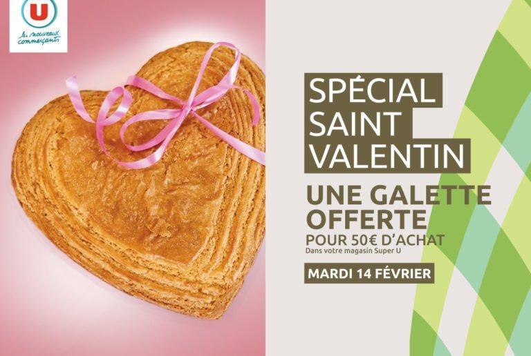 offre spéciale saint valentin au super U de Boufféré