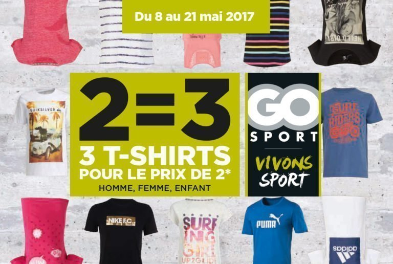 Nouvelle collection T-shirts Go Sport - Pays de Montaigu
