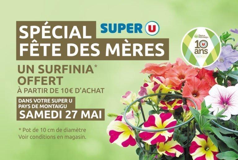 Cadeau Fêtes des Mères - Super U Montaigu-Boufféré
