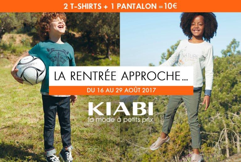 vêtements pour la rentrée chez Kiabi