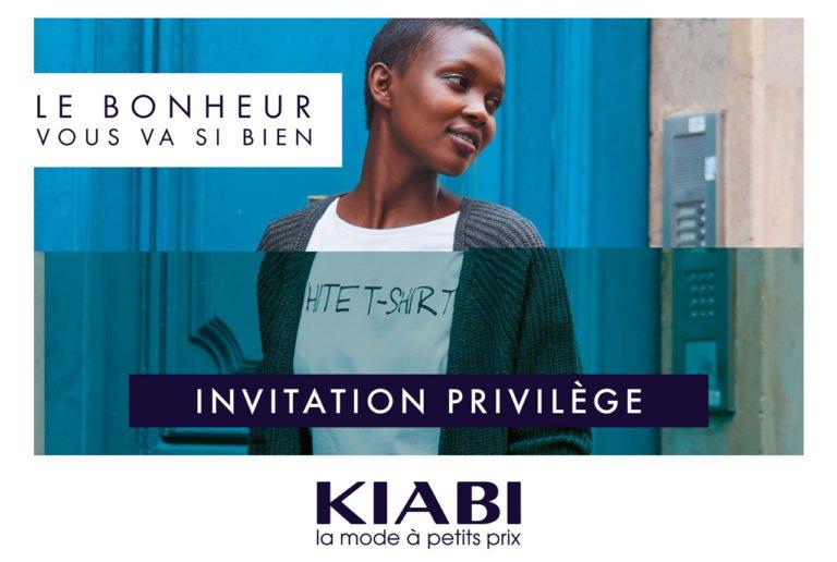 Invitation soirée privilège Kiabi Montaigu-Boufféré