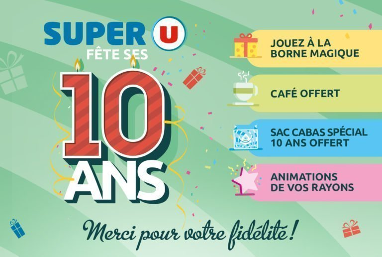 10ans super U montaigu