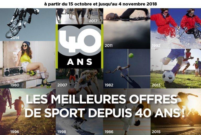 Go Sport fête ses 40 ans